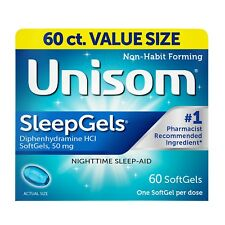 New Unisom SleepGels Nighttime Sleep-Aid SoftGels 60 Ct