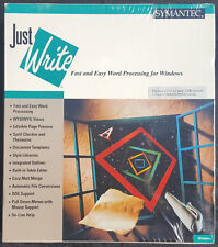 Just Write -Fast & Easy Word Processing For Windows By SYMANTEC Vintage Software