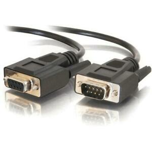 C2G 25ft DB9 M/F Extension Cable - Black