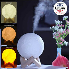 3D Moon Lamp 880mL Air Humidifier Aroma Mist Diffuser Purifier Night Light US