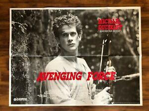 Avenging Force, 1986 UK Quad Movie Poster