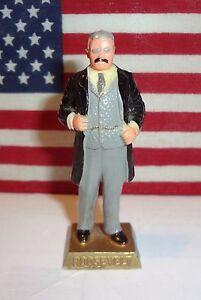 "PRESIDENT TEDDY ROOSEVELT Vintage 1960s Marx Presidents 2.5"" Figure"