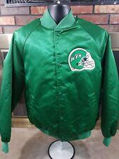 Vintage New York Jets NFL Football Satin Snap Jacket Coat Mens Size Large Green