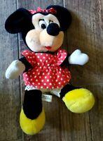 Authentic DISNEYLAND DISNEY WORLD Minnie Mouse Red Polka Dot Plush Doll