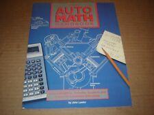 Auto Math Handbook Calculating HP Compresion Displacement Stroke Bore Torque