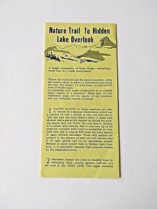 1980 GLACIER NATIONAL PARK HIDDEN LAKE NATURE TRAIL TO OVERLOOK BROCHURE MONTANA