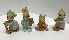 Homco Vintage Ceramic Bunny Figurines - Set of 4