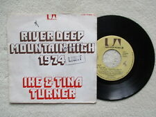 "45T 7"" IKE & TINA TURNER ""River Deep Mountain High 1974"" UP 35632 FRANCE §"