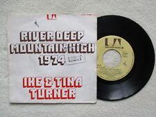 "45T 7"" IKE & TINA TURNER ""River Deep Mountain High 1974"" UP 35632 FRANCE §"