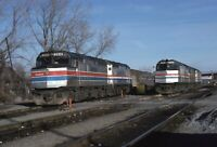 AMTRAK Railroad Locomotives 264 303 Trains ALBANY NY Original 1979 Photo Slide