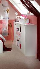 WIMEX Sideboard Kommode Cindy mit Schubladen 155cm weiß / rosa 2373