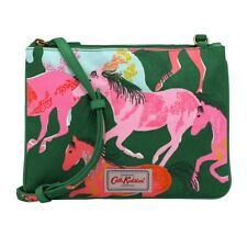 BNWT CATH KIDSTON PAINTED HORSES CROSS BODY ZIPPED BAG GREEN PINK RED PONY HAND