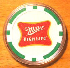 Miller High Life Beer Poker Chip Golf Ball Marker - Green