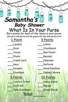 14 Personalized -What's In Your Purse-Baby Shower Game - Dr. Seuss - Party Games