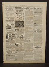 Harper's Weekly Classified Ads Hartshorn's Shade Rollers 1873 B13#31