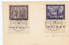 SBZ, Mi. 198/99UR (I.Ausgabe), 199 mit PLF, SST Leipzig, 5.9.48, Stpl.-Vorlage