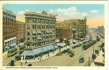 Akron, OH Looking North from the Flatiron Building 1917