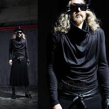ByTheR Men's Unique Modern Sherling Loose Basic Turtleneck T-Shirt Black UK N