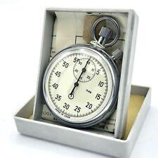 Vintage Retro Stopwatch AGAT 0.2s USSR Chronograph Mechanical NEW Soviet 1990
