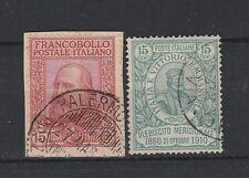FRANCOBOLLI - 1910 REGNO GARIBALDI C. 15 + 15 Z/7442