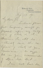 1893 Artist Edwin Austin Abbey Requests His American Fine Arts Society Stock