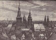 Osnabrück - Stadtansicht - Siebdruck von Walter Hobein