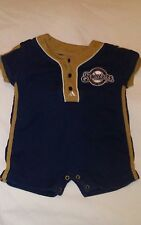 Adidas MLB Milwaukee Brewers  Baseball Navy Baby 1 pc Jumper Infant  SZ 6-9 Mo
