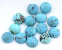 ONE 8mm Round Natural Kingman Turquoise Cabochon Gem Stone Gemstone 3334A