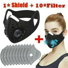 Top Anti Dust Cycling Bicycle Bike Motorcycle Face Shield Half Scarf +10 Filters