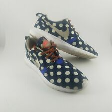 san francisco 6da06 ffe1b Nike Roshe Run Sz 9.5 QS NYC Running One Polka Dot 667632-400 Navy