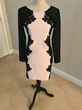 LIPSY LONDON SIZE 8 BLACK WHITE TEXTURED DRESS