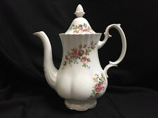 Royal Albert Moss Rose Coffee Pot England