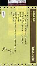 Hank Aaron 1974 715 Congrats Telegram Signed Jsa Certed Authentic Autograph