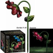 Rouge mini bell fleur lampe solaire jardin jeu Creekwood regal art & gift boxed