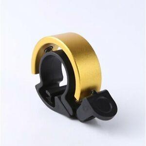 Bike Bell Aluminum Small Sleek Minimalist Design with Loud Bell - GOLD