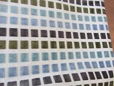 Polsterstoff blau grün braun Bezugsstoff Möbelstoff maritim Kissenstoff Deko 1