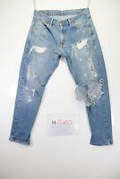Levi's 751 Destroyed (Cod. H2010) Tg48 W34 jeans usato Vita Alta vintage