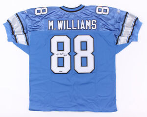 Mike Williams Signed Lions Jersey (UD COA) First-team All-Pac-10 (2003) USC W.R.