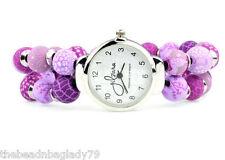 NEW JILZARA Premium Clay 8mm Beads LILAC PURPLE KEEPSAKE Watch