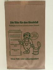 20 Bioabfalltüten 20+16x36cm braun Papier Bio Müllbeutel Biobeutel Küche neu 15