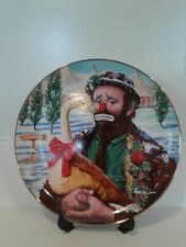 Emmett Kelly Circus Collection Plate Christmas Feast 1989 Dave Grossman, Japan