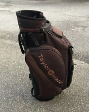 TaylorMade Brown On Lighter Brown Tour Cart Golf Bag With Rain Cover