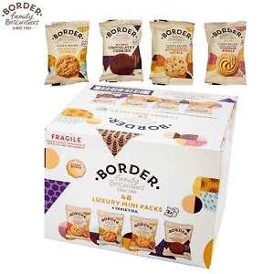 Border Family Biscuits 48 Luxury Mini Packs in 4 Varieties 2 Cookies Each Packet