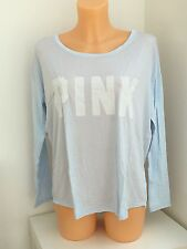 Victoria's Secret Vs PINK BLU MANICA LUNGA GRAFICA Baggy TOP XS-S-M-L