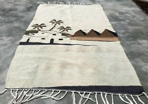 Hand Knotted Bulgaria Pictorial Wool Kilim Kilm Area Rug 3 x 2 Ft (3347 KBN)