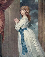 Old Antique art Print c18th Actress Mrs Jordan Mistress King William