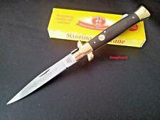 "Stiletto 4-7/8"" Folding Pocket Knife Kissing Crane Stainless Steel Wood Handle"