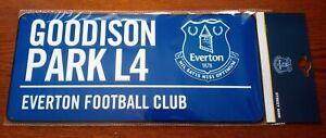 Official Blue Everton FC 3D Metal Street Sign (Goodison Park L4) - FREE POST