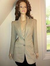 ESCADA ZIG ZAG OLIVE BEIGE Blazer Jacket 36 6 BEAUTIFUL $1,697
