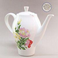 Teiera in porcellana caffettiera vintage Richard Ginori antica bianca a fiori